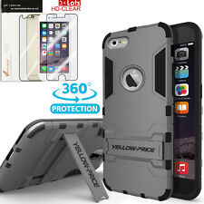 For iphone 6 6s Plus Shockproof Slim Case Armor Cover & 3pcs (Front+Back) Flims