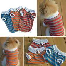 Small Dog Cat Puppy Polo Shirt Clothes Pet Puppy Summer Costume T-Shirt XS/S/M/L