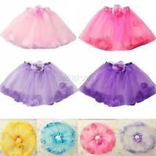 Baby Girl Pettiskirt Puff  Petal Tulle Tutu Party Ballet Dancewear Dress Skirt