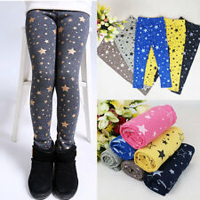 Star Printed Baby Kids Girls Warm Stretchy Leggings Trousers Toddler Tight Pants