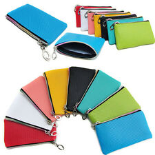 Womens Men Card Holder Wallet Coin Purse Clutch Zipper Leather Small Change Bag