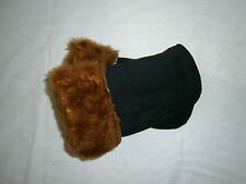 Soviet Warm Fur Mittens Wool Fleece Russian Army Military Surplus Black Red M