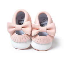 Hotsale Toddler Baby Cute Bow Boy/Girl Moccasins Tassel Mixed Colors Crib Shoes