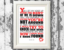 Sam Smith Latch Song Lyric Poster Typography Print Design Lyric Wall Art