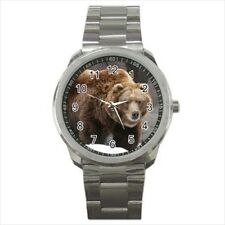 Grizzly Bear Stainless Steel Watch