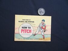 """""""How To Pitch"""" Promotional Baseball Comic Book """"Stop & Shop"""" 1957 VF/NM Golden"""