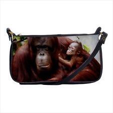 Bornean Orangutan Monkey Mini Coin Purse & Shoulder Clutch Handbag