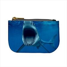 Gray White Shark Mini Coin Purse & Shoulder Clutch Handbag