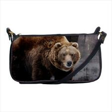 Grizzly Bear Mini Coin Purse & Shoulder Clutch Handbag