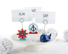 Navy Blue Whale Nautical Boy Birthday Baby Shower Photo Place Card Holder Favor