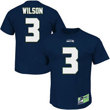 SEATTLE SEAHAWKS NFL RUSSELL WILSON #3 NAVY ELIGIBLE RECEIVER T-SHIRTS: S-2XL