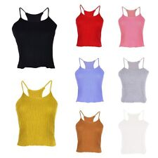 Ladies Top Vest Tank Blouse Soft Camisole Sleeveless Blouse Shirt Party Bustier