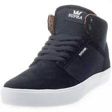 Supra Yorek Hi Mens Leather & Fabric Black White Trainers