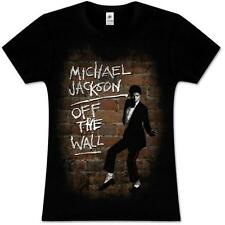 MICHAEL JACKSON OFF THE WALL OFFICIAL LADIES FITTED SLIMFIT BABYDOLL T-SHIRT