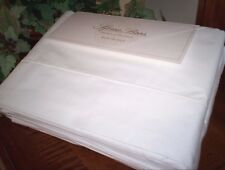 Sferra Italian Percale 200TC Queen King or Cal Kg Cotton Sheet Set Solid White
