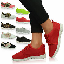 UK Ladies Womens Gym Jogging Trainers Running Sneakers Fitness Sport Shoes Size