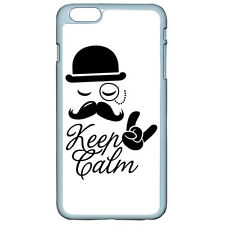 Keep Calm Mustache On For iPhone 4 4S 5 5S E 5C 6/6S Plus iPod Touch 4 5 6 Case