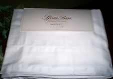 New Sferra Italian Sateen 100% Cotton 300TC Queen King Cal Sheet Set Solid White