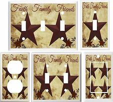 COUNTRY BARN STAR FAITH FAMILY FRIENDS LIGHT SWITCH COVER PLATE OR OUTLET V505