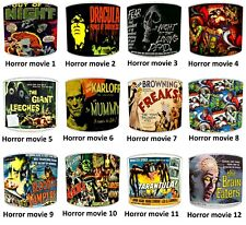 Vintage Retro Horror Movie Posters Print Table Lampshades Or Ceiling Lights