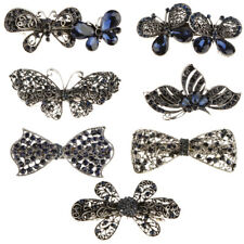 Retro Vintage Hair Clips Comb Hairpins Crystal Flower Butterfly Hair Barrette