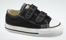 Converse Chuck Black White 2 Strap Baby Infant Toddler Boys Girls Shoe Size 2-10