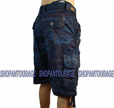 AFFLICTION Break Out 110WS112 Men`s New Navy Camo Cargo Shorts