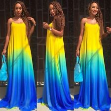 Womens Girl Sexy Boho Summer Casual Evening Party Beach Long Maxi Dress S/M/L/XL