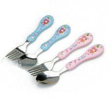Cute Child Fork Cutlery Fork Spoon 304 Stainless Steel Baby Fork Spoon Chic