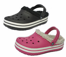 "CROS CHILDREN'S GIRLS & BOYS ""CROCBAND MAMMOTH"" CLOGS IN BLACK & HOT PINK"