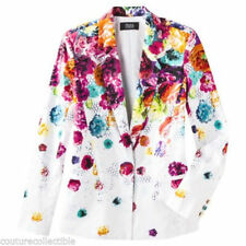 NEW! Prabal Gurung Rainbow Blazer Jacket w/ pockets Fully Lined in Floral Crush
