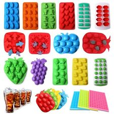 Silicone Ice Cube Tray Freeze Mold Bar Jelly Pudding Mold Maker 25 Styles