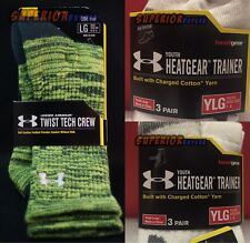 Under Armour Heatgear Tech Trainer Socks New Mens Youth Sizes