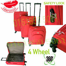 Trolley Set Travel Suitcase Luggage Ryan air Hard Cabin Approved Spinner Trolley