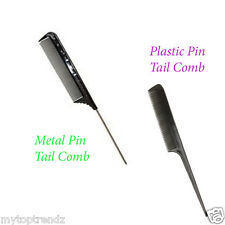 Fine Spaced Teeth Tail Comb For Sectioning Parting Lifting Rat Tail Hair Comb