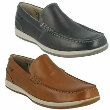 FALLSTON STEP MENS CLARKS SLIP ON LEATHER MOCCASIN CASUAL LOAFER SHOES
