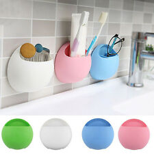 Hot Bathroom Wall Colorful Suction Cup Toothbrush Rack Toothpaste Holder Stand
