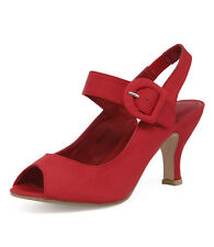 New I Love Billy Rojo Red Women Shoes Sandals Heels Peep Toes