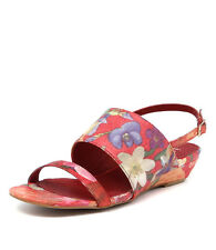 New I Love Billy Makey Red Floral Women Shoes Casuals Sandals Wedges