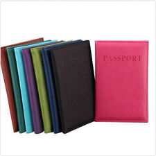 Travel Utility Simple Passport ID Card Cover Holder  Protector Skin Leather Fine