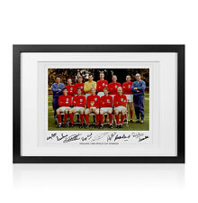 Framed 1966 England World Cup Winning Team Signed Photo - Autographed By 9