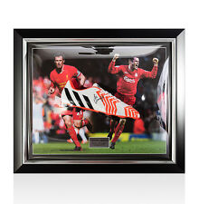 Bubble Framed Jamie Carragher Signed Adidas Football Boot Autograph Cleat