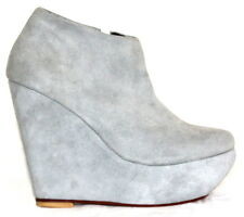 Women shoes sandal wedges suede leather platform Afrah Grey Aus sizes 2 to 10.5