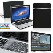 "New Rubberized Matte Hard Case Keyboard Skin+HD Film+Bag For Mac Pro 13"" Laptop"
