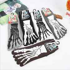 4Pairs New Fashion Mens Five Fingers Toe Socks Ghost Claws Cotton Funny Socks