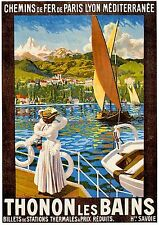 A3 SIZE - French Travel Advertisment Thonon Les Bains France ART PRINT POSTER