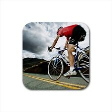Cycling Bottle Opener Keychain and Beer Drink Coaster Set