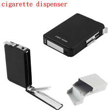 Cigarette Lighter Case Box Holder Black Automatic Ejection Butane Windproof  MC