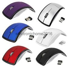 Laptop Computer 2.4GHz Wireless Foldable Arch Optical Mouse Mice +USB Receiver