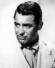 Cary Grant Cool Portrait in Open Shirt and Sports Jacket 1940's Poster or Photo